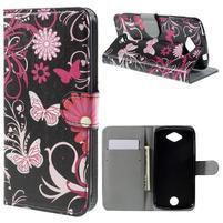 Valet peňaženkové puzdro pre Acer Liquid Z530 - kúzelné motýľe