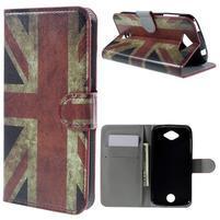 Valet peňaženkové puzdro pre Acer Liquid Z530 - UK vlajka