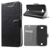 Horse peňaženkové puzdro pre mobil Acer Liquid Z530 - čierné