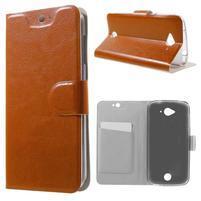 Horse peňaženkové puzdro pre mobil Acer Liquid Z530 - hnedé