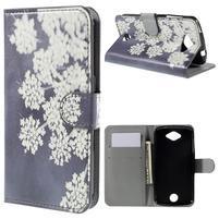 Valet peňaženkové puzdro pre Acer Liquid Z530 - kvitnúce kvetiny