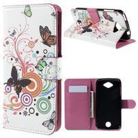 Valet peňaženkové puzdro pre Acer Liquid Z530 - motýľci