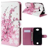 Valet peňaženkové puzdro pre Acer Liquid Z530 - kvitnúca vetvička