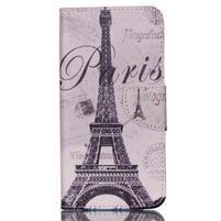 Peňaženkové puzdro pre mobil Acer Liquid Z630 - Eiffelova veža