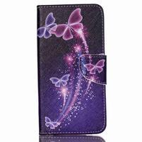 Peňaženkové puzdro pre mobil Acer Liquid Z630 - kúzelní motýľci