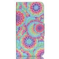 Peňaženkové puzdro pre mobil Acer Liquid Z630 - farebné kvety