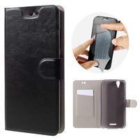 Horse peňaženkové puzdro pre Acer Liquid Z630 - čierné