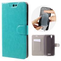 Horse peňaženkové puzdro pre Acer Liquid Z630 - modré