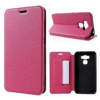 Magnetic PU kožené puzdro pre Asus Zenfone 3 Max ZC553KL - rose