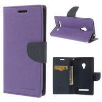 Fialové/tmavě modré peňaženkové puzdro na Asus Zenfone 5