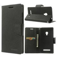 Čierné kožené puzdro Asus Zenfone 5