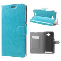 Horse peňaženkové puzdro pre Asus Zenfone Max - modré