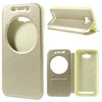 Luxusní pouzdro s okýnkem na mobil Asus Zenfone Max - zlaté