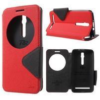 Diary peněženkové pouzdro s okýnkem na Asus Zenfone Max - červené