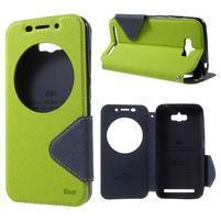 Diary peněženkové pouzdro s okýnkem na Asus Zenfone Max - zelené