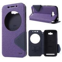 Diary peněženkové pouzdro s okýnkem na Asus Zenfone Max - fialové