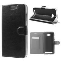 Horse peňaženkové puzdro pre Asus Zenfone Max - čierné