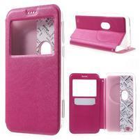 Peňaženkové puzdro s okienkom pre Asus Zenfone Zoom - rose