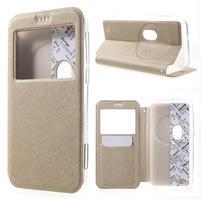 Peňaženkové puzdro s okienkom pre Asus Zenfone Zoom - zlaté