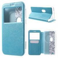 Peňaženkové puzdro s okienkom pre Asus Zenfone Zoom - modré