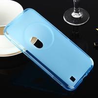 Gelový matný obal na mobil Asus Zenfone Zoom - modrý