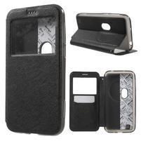 Peňaženkové puzdro s okienkom pre Asus Zenfone Zoom - čierné