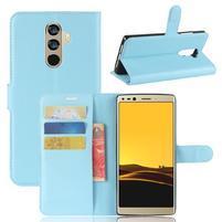 Wallet PU kožené zapínacie puzdro na Doogee Mix 2 - modré