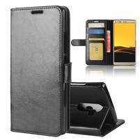 Standy PU kožené peňaženkové puzdro na Doogee Mix 2 - čierne