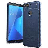 IVS gélový obal s textúrou na Huawei Y7 Prime (2018) a Honor 7C - tmavomodrý