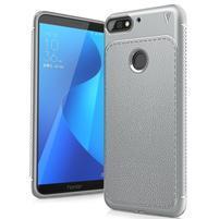 LEN gélový obal s textúrou na Huawei Y7 Prime (2018) a Honor 7C - šedý