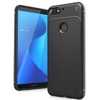 IVS gélový obal s textúrou na Huawei Y7 Prime (2018) a Honor 7C - čierny