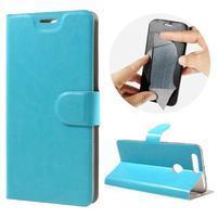 Horse PU kožené puzdro na mobil Honor 8 - modré