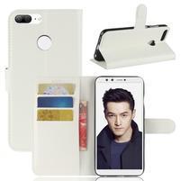 Wallet PU kožené zapínacie puzdro na Honor 9 Lite - biele