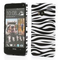 Plastový kryt pre HTC One M7 - zebra