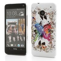 Plastový kryt pre HTC One M7 -  barevní motýľci