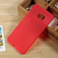 Matný gélový obal na HTC U Ultra - červený