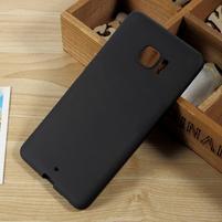 Matný gélový obal na HTC U Ultra - čierny