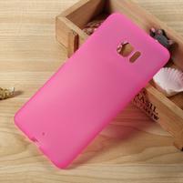 Matný gélový obal na HTC U Ultra - rose