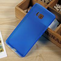 Matný gélový obal na HTC U Ultra - modrý