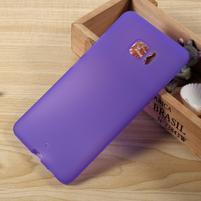 Matný gélový obal na HTC U Ultra - fialový