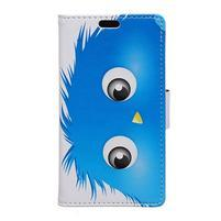 Emotive PU kožené puzdro na Huawei Nova - modrý strašiak