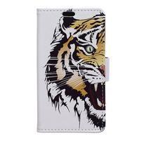Emotive PU kožené puzdro na Huawei Nova - tiger