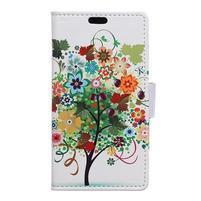 Emotive PU kožené puzdro na Huawei Nova - ovocný strom