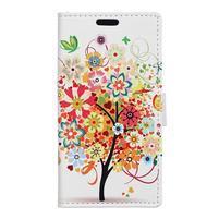 Emotive PU kožené pouzdro na Huawei Nova - barevný strom