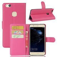 Leathy PU kožené puzdro pre mobil Huawei P10 Lite - rose