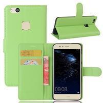 Leathy PU kožené puzdro pre mobil Huawei P10 Lite - zelené