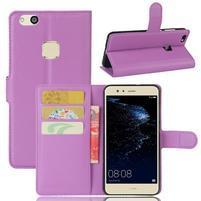 Leathy PU kožené puzdro pre mobil Huawei P10 Lite - fialové