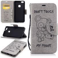 BadBeer peňaženkové puzdro pre Huawei P10 Lite - šedé