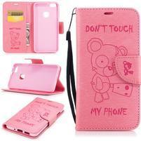 BadBeer peňaženkové puzdro pre Huawei P10 Lite - ružové
