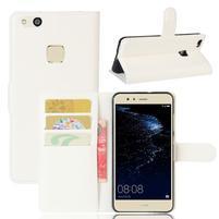 Leathy PU kožené puzdro pre mobil Huawei P10 Lite - bielé